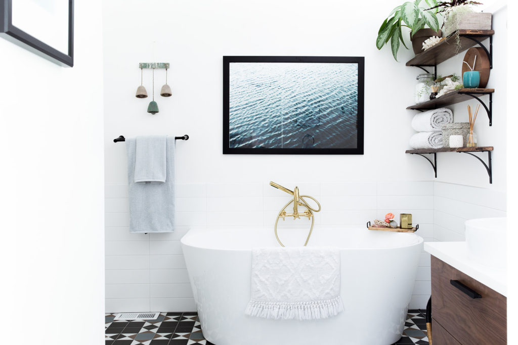 An eclectic modern master bathroom interior design project by Studio Plumb