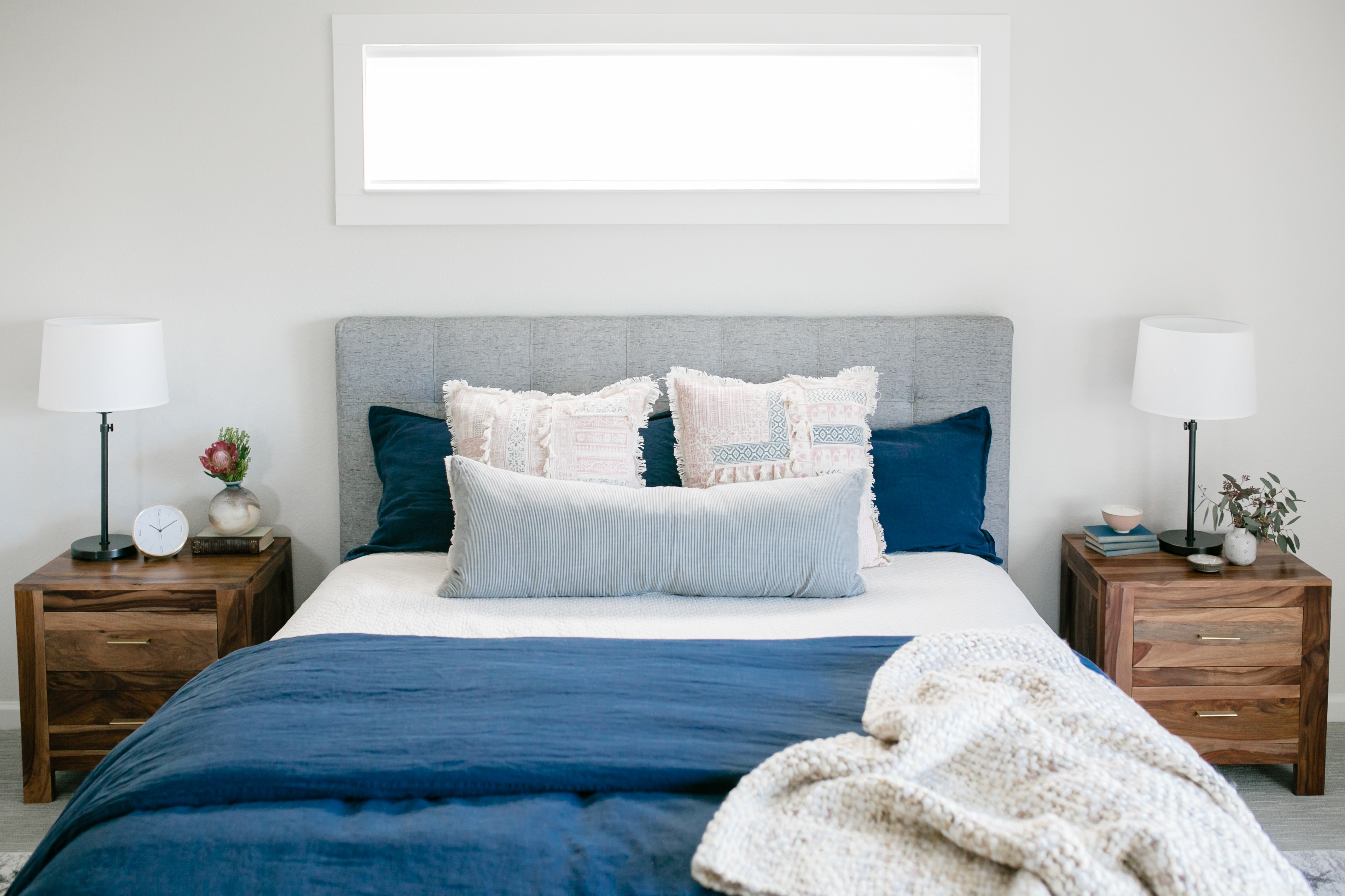 A modern traditional masterbedroom room interior design project by Studio Plumb