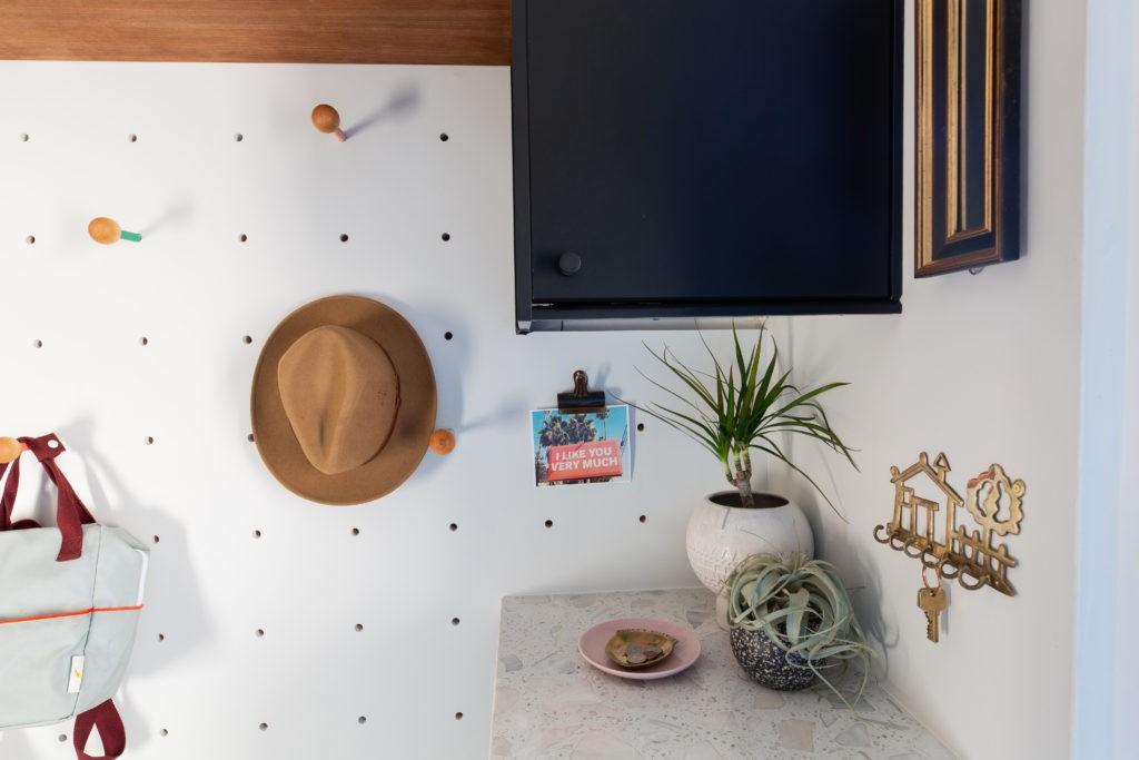 An midcentury modern mudroom bath laundry room interior design project by Studio Plumb