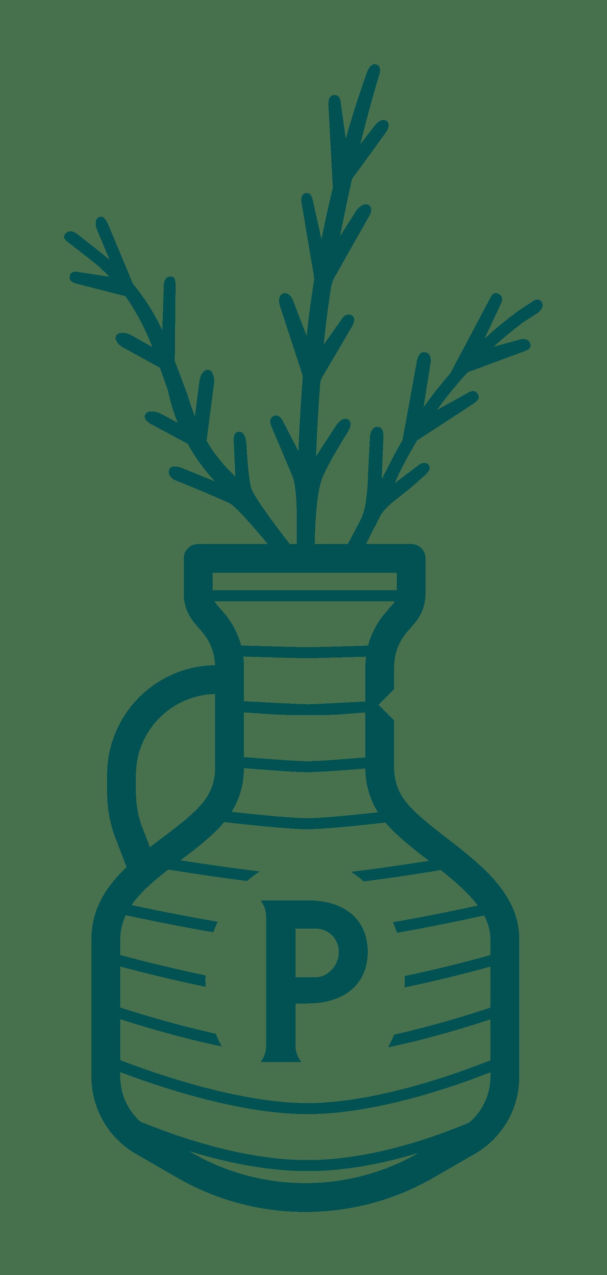 Vase logo-green
